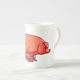 Happy Pig Family Tea Cup