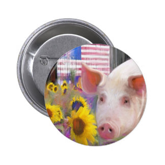 Happy Pig From West Marin Pinback Button