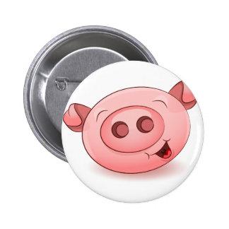 Happy Pig Icon Button