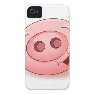 Happy Pig Icon iPhone 4 Case