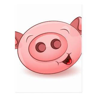Happy Pig Icon Postcard