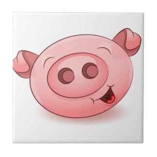 Happy Pig Icon Tile