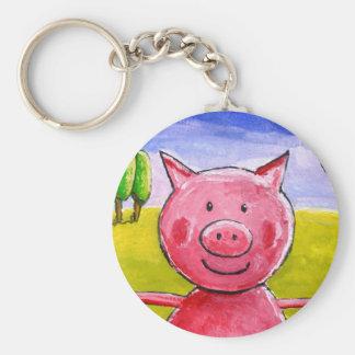 Happy Pig Keychain