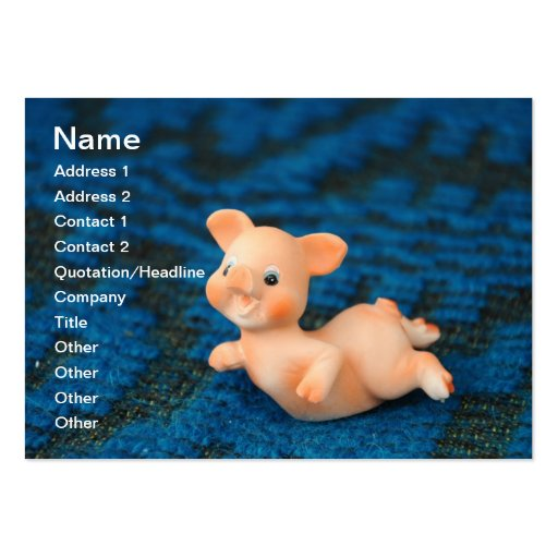 Happy pig large business cards (Pack of 100)