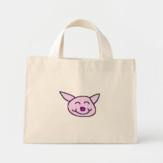 Happy Pig Mini Tote Bag