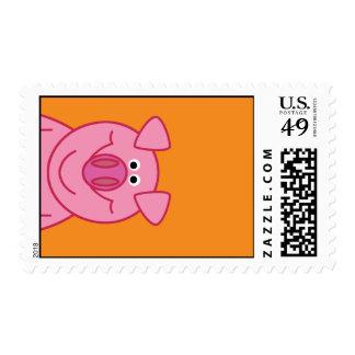 HAPPY PIG POSTAGE STAMP