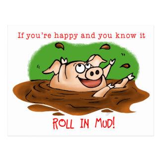 Happy Pig Postcard