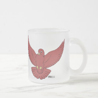 Happy Pigeon Frosted Glass Coffee Mug