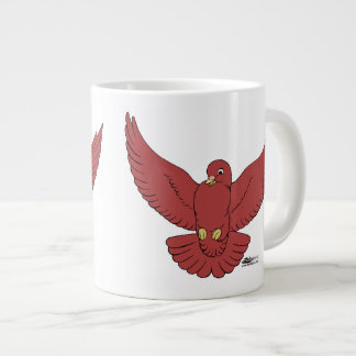 Happy Pigeon Large Coffee Mug