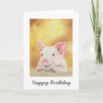 Happy Piglet Birthday Card