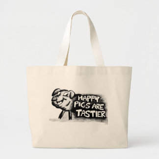 Happy Pigs Are Tastier! Tote Bags
