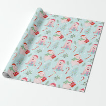 Happy Pigs Christmas Pattern Wrapping Paper