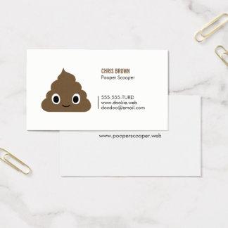 Happy Pile of Poo - Kawaii Poop Business Card