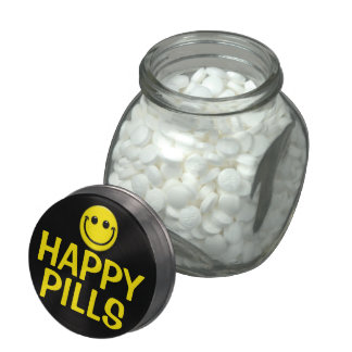 Happy Pills Jelly Belly Candy Jar