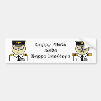Happy pilots make happy landings Bumper Bumper Sticker