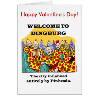 Happy Pinhead Valentine's Day! Greeting Card