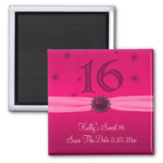 Happy Pink Birthday 16 Reminder Magnet