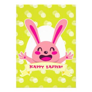 Happy Pink Bunny Card
