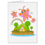 Happy pink butterflies card
