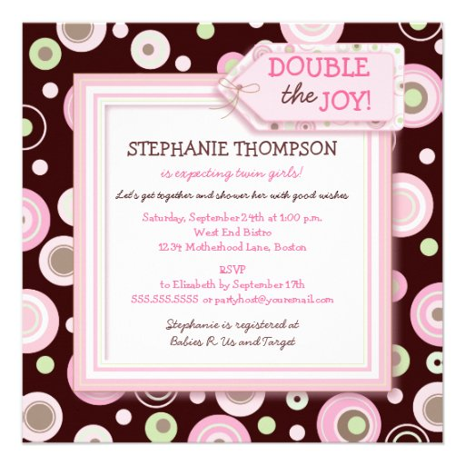 Twin Girl Baby Shower Invitations is one of our best ideas you might choose for invitation design
