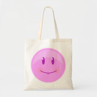 Happy Pink Face Tote Bag