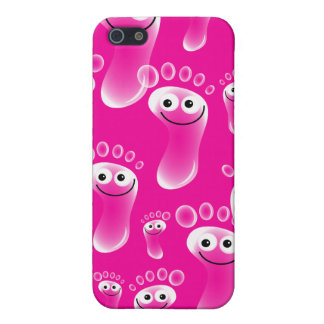 Happy Pink Feet Cases For iPhone 5