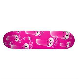 Happy Pink Feet Skateboard Deck