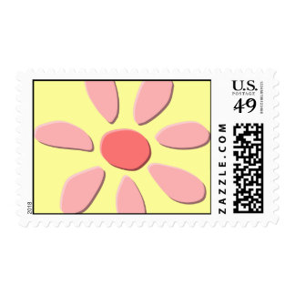 Happy Pink Flower stamp
