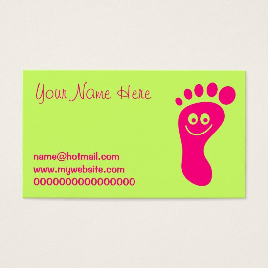 Happy Pink Foot Business Card