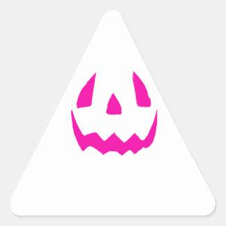 Happy Pink Halloween Triangle Sticker