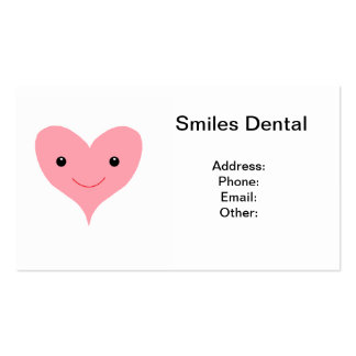 Happy Pink Heart Business Card