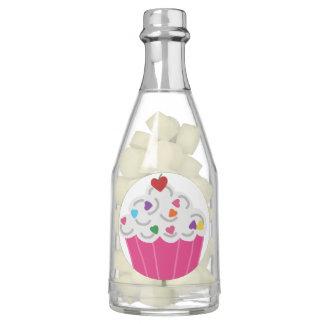 Happy Pink Heart Cupcake - Sweet Bakery Art Gum