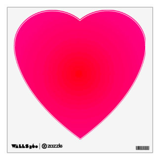 Happy Pink Heart Dayglow Fun Brights CricketDiane Wall Decal