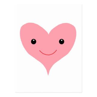 Happy Pink Heart Postcard