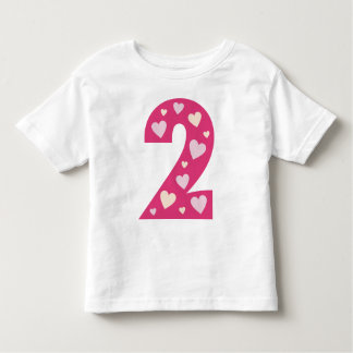 Happy Pink Hearts Number 2 T Shirt