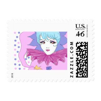 Happy Pink Joker Stamp