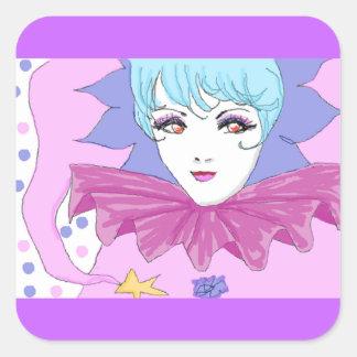 Happy Pink Joker Square Sticker