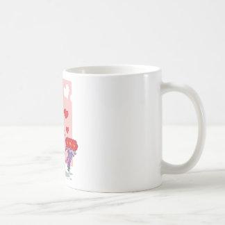 Happy Pink Nosed Bunny Coffee Mug