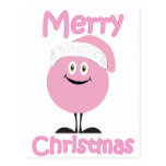 Happy pink ornaments wishing you merry christmas postcards