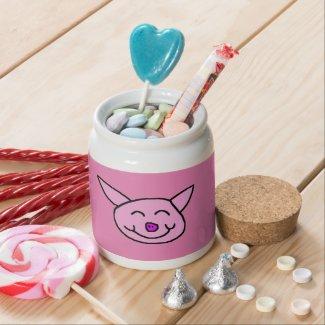 Happy Pink Pig - Hoodoo Rootwork Jar Candy Jars