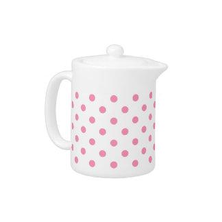 Happy Pink Polka Dot Teapot