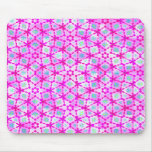 happy pink retro texture mousepads