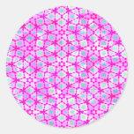 happy pink retro texture stickers