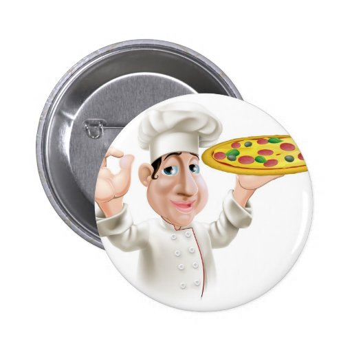 Happy Pizza Chef Buttons