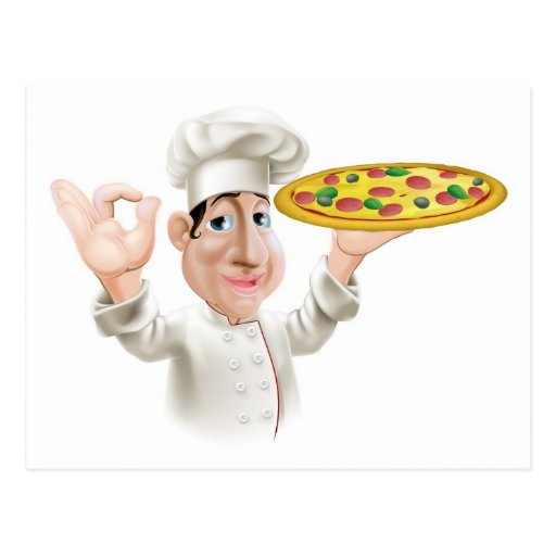 Happy Pizza Chef Postcards