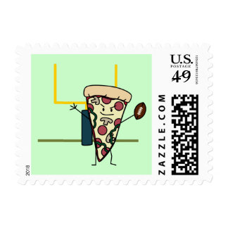 Happy Pizza Football Stamps