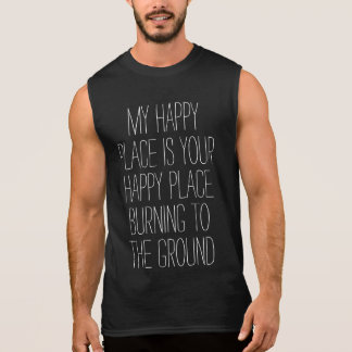 Happy Place Burning Sleeveless Shirt