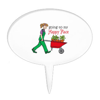 Happy Place Cake Toppers