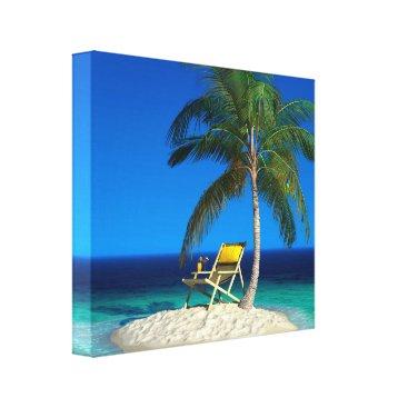 Beach Themed Happy Place Canvas Print