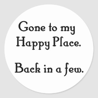 Happy Place Classic Round Sticker